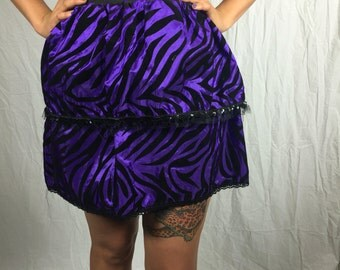 Purple Zebra Skirt