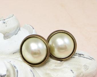 Pearl Earrings Petite Stud Earrings