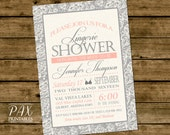 Lingerie Shower Invitation  - Printable Lace Invitation, Bachelorette Party, Bridal Shower, Couples Shower - Any Event!
