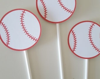 Baseball Cupcake Toppers, Baseball Shower,  Baseball Birthday, Baseball Party