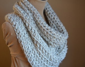The Magnificent Cowl, HUGE  Oversized warm wool acrylic blend scarf cowl