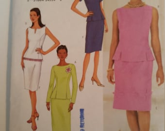 Butterick Sewing Pattern 3375 Misses'/Misses' petite top & skirt in size 12, 14, 16