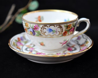 Dresden Demitasse Cup and Saucer, Schumann, China, porcelain, Great for a tea party, Germany, Fabulous Gift Idea #322