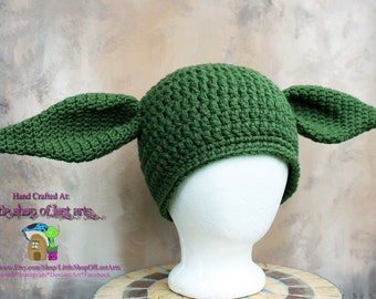 Star wars yoda inspired ready to ship thick winter hat