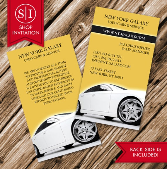 Auto car business card free shipping from shopinvitation on etsy 1595 reheart Choice Image