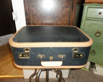 Belber USA Made Hard Shell Case Suitcase Vintage Travel Bag Overnight Luggage Bag