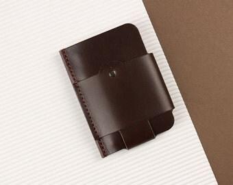 Gentleman slim wallet, leather brown [BR]