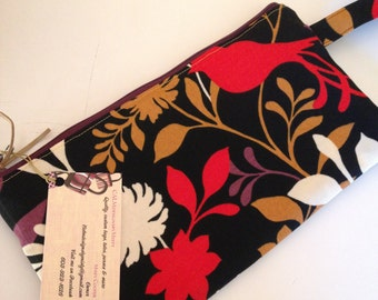 Oversize wristlet, Black Wallet, Bridesmaid Gifts, Clutch