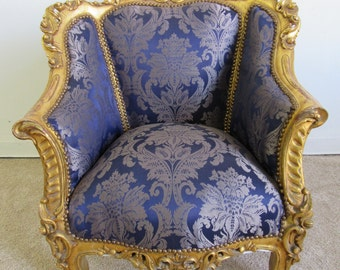 Antique / Vintage French Baroque Bergere Chair
