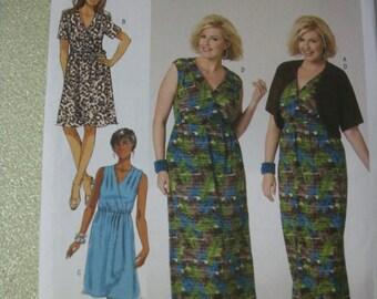 Butterick B5764 Womans (Size RR 18W-20W-22W-24W)  shrug, dress and belt