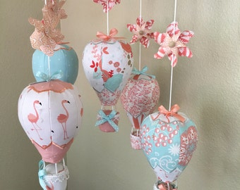 Hot Air Balloon/pinwheel Crib Mobile