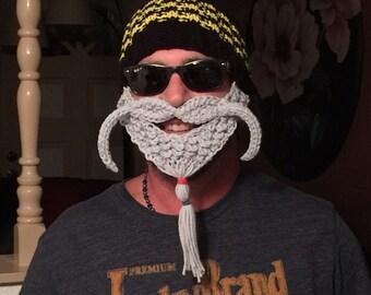 NEW! goatee Beard hat Bearded Beanies Bearded Hat Beard cap barbarian hat goatee beard beanies face warmer Ski Mask Face Mask crochet beard