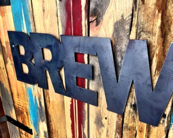 Brewery Sign: Metal Wall Art