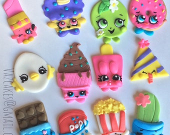 Shopkins inspired cupcake toppers