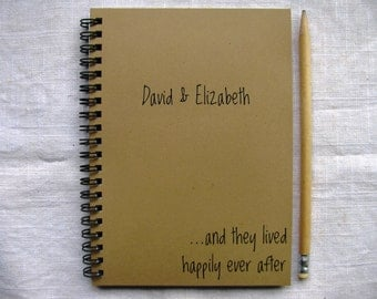 Personalized...and they lived happily ever after (personalize with couple's name)- 5 x 7 journal