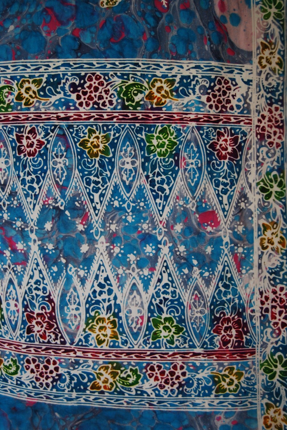 malaysian batik fabric hand printed from missiines on etsy