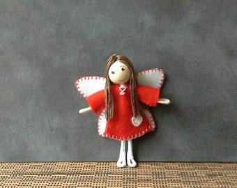 Valentines Fairy Bendy Doll
