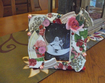 Handmade Rose Mosaic Picture Frame