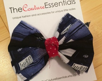 Doctor Who inspired boutique bow READY TO SHIP