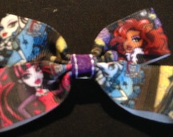 Monster high print boutique bow