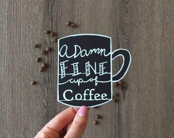 Twin Peaks Handcut Paper Art - Original Typography Paper Art - Coffee Artwork