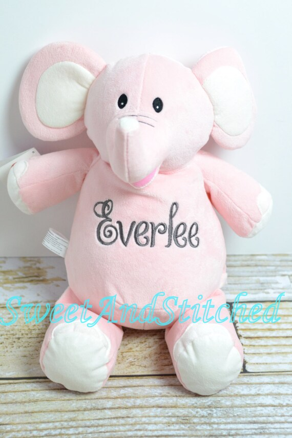 Personalized Stuffed Animal baby gift, Monogrammed stuffed animal elephant, monogrammed baby gift, monogrammed baby elephant, baby monkey