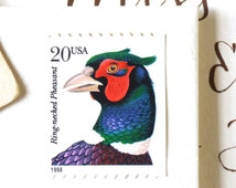 10 UNused Pheasant Postage Stamps for Mailing Cards // Invitations // Save the Dates