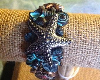Stretch nautical bracelet patina