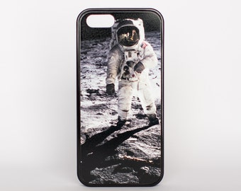 The Lunar Surface by Adventure Case for iPhone 5, 5s, 6, 6 plus, 6s, 6s plus, SE offered as a white or black rubber case