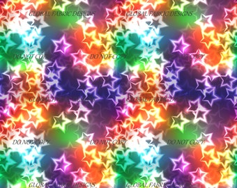 Candy Stars on minky fabric - UK seller