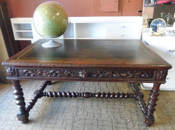 Antique Oak desk or library table