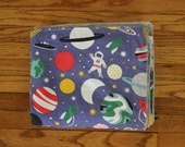 Outer Space Baby Blanket, Toddler Blanket, Tummy Time Mat, Play Mat, Astronaut Blanket