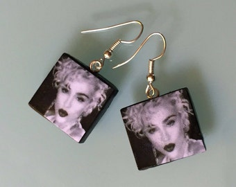 Madonna Earrings Polymer Clay Hand Made With Love