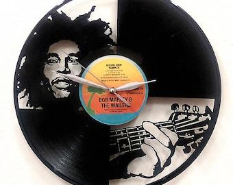 Bob Marley Wall Art -Vinyl LP Record Clock or Framed -Great Reggae Gift - Bob Marley Clock- Bob Marley framed vinyl record-Rastafarian décor