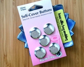 Metal Self-Cover Buttons – choose from 22mm or 29mm size pack