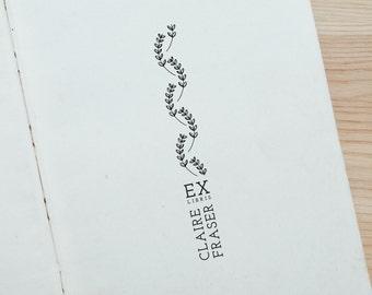 Personalised Leaves Ex Libris Stamp