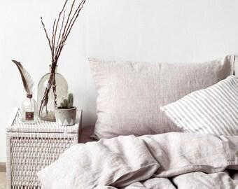 US Melange Linen Bed Set