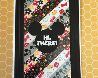 Mickey Mouse hello card-Mickey Mouse Hi there card-Disney Mickey Mouse card-Mickey washi tape card-Mickey Mouse ears card