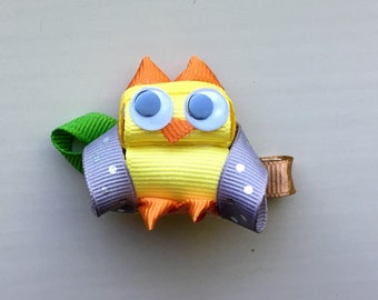 Owl ribbon sculpture bow