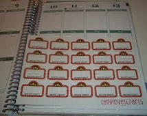 Movie Night Marquee Stickers For your planner or for Scrapbooking.
