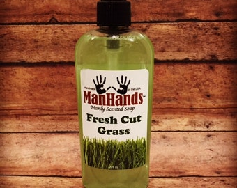 Fresh Cut Grass Liquid Scented Soap 8oz.