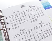 Printed Half Letter Size Yearly Calendars {January-December 2017} #100-92