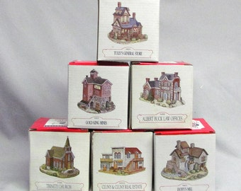 Lot of 6 Liberty Falls Americana Collection Buildings in Orig. Boxes