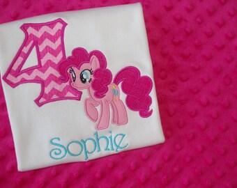 My Little Pony Birthday Shirt- Pinkie Pie or Rainbow Dash