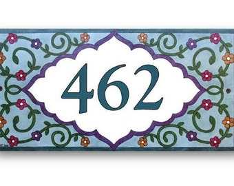 Custom house number sign, Address sign, House numbers, House sign, Address plaque
