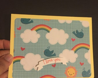 i love you! Rainbow notecards