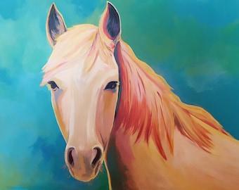 "Gorgeous Original Painting - ""Nadja's Horse"""