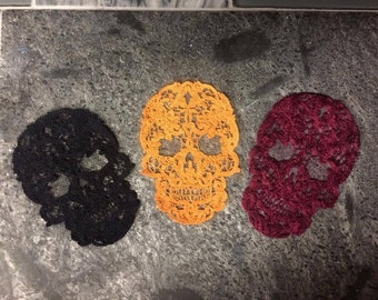 Lace Skull appliques NEW colors ADDED!!