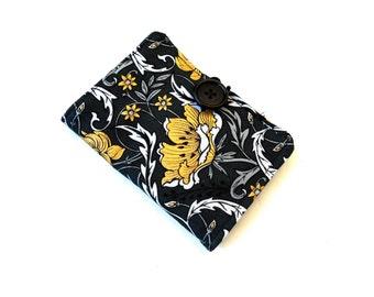 Golden Poppies Tea Wallet - Black Gold White Tea Bag Wallet