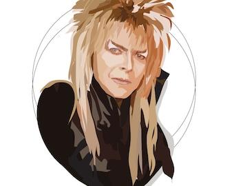 Jareth - Labyrinth - Goblin King - David Bowie - Art Print